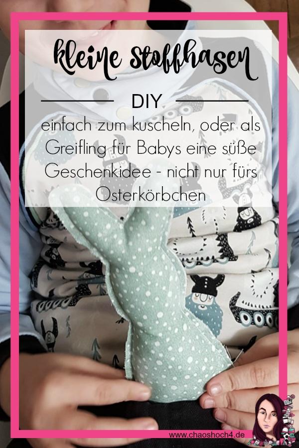 suesse Osterhasen aus Stoff zum dekorieren oder als kleines Stofftier / Greifling eine DIY Ostergeschenkidee