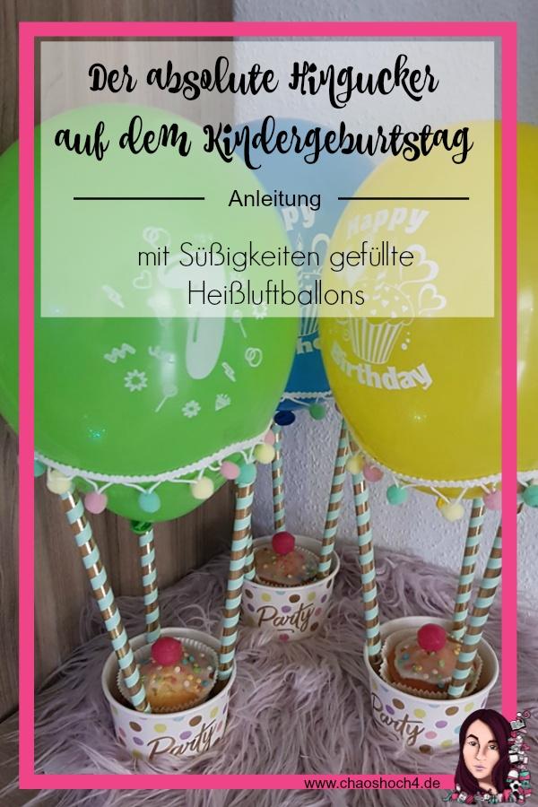 mit Suessigkeiten gefuellte Heissluftballons als Hingucker zum Kindergeburtstag fuer Schule und Kita