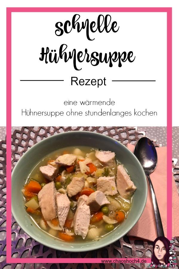 Rezept für eine schnelle Hühnersuppe in der kalten Jahreszeit