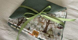Babydecke DIY ganz einfach selber nähen - Anfängergeeignet - Geschenkidee zur Geburt