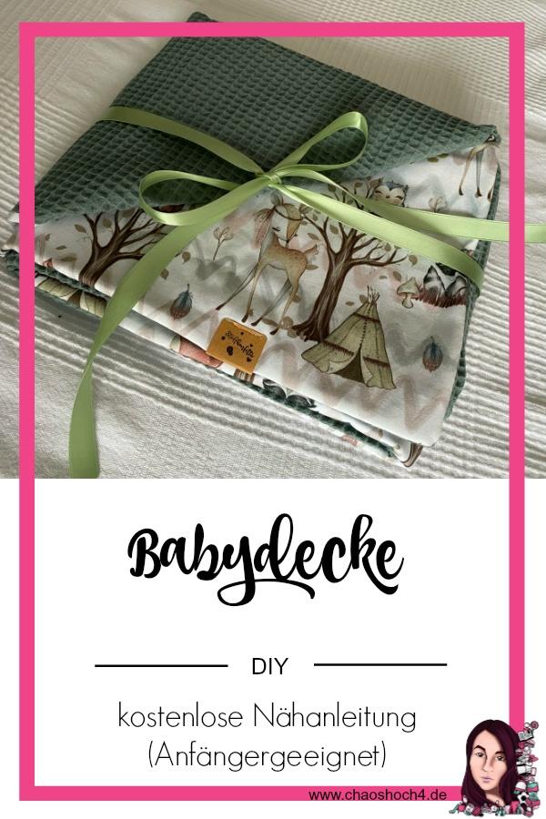 kostenlose DIY Anleitung Babydecke nähen